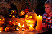 Halloween: Kleine Kürbisse, Junge
