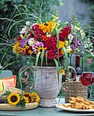 Summer bouquet with rudbeckia (coneflower), phlox