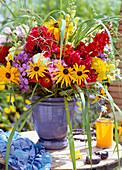 Rudbeckia (Sonnenhut), Phlox (Flammenblume), Achillea (Schafgarbe), Antirrhinum