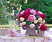 Paeonia (peony), syringa (lilac), viburnum