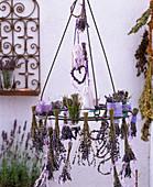 Lavandula (lavender) as posy, hearts, sachet