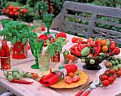 Lycopersicon (tomato), capsicum (hot peppers)
