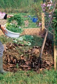 Add compost, vegetable waste to the compost