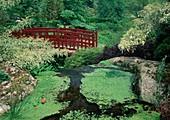 Red bridge in the Japangarten
