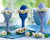 Breakfast eggs in high eggcups