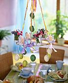 Ceiling hanger over breakfast table