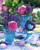Lavandula (Lavender), Pink (Rose)