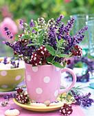 Lavandula (lavender), Origanum (oregano)