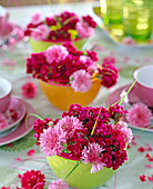 Cornflower sweet williams flower arrangement