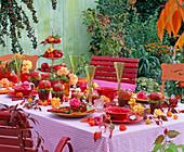 Rose apple table setting
