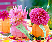 Mini lanterns as a vase