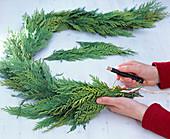 False cypresses garland