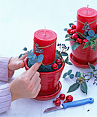 4 pots as Advent wreath