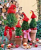 Santa hats made from Sisal