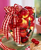 Apple jar with fairy lights