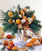 Nuts and kumquat bouquet