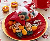 Napkin with Santa hat