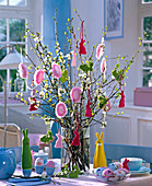 Easter bouquet of prunus (cherry) and betula (birch)