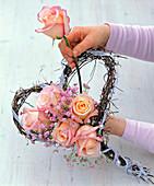 Roses in Muehlenbeckia heart