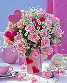 Bouquet of Rose, Matricaria, Xerophyllum