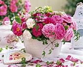 Rose gallica 'officinalis' (historical rose)