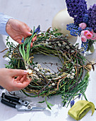 Ostrich egg in the wreath