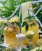 Elderberry lemonade out of Sambucus flowers