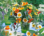 Herbal Bouquet with Helichrysum, Tropaeolum