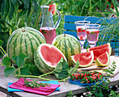Citrullus lanatus (watermelons) tendrils and fruits of