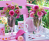 Pink Dahlia, Anethum, Limonium