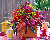 Mixed late summer bouquet with Zinnia