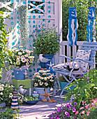 Maritime balcony blue-white