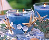 Candlelight maritim decorated