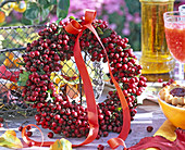 Berry wreath of hawthorn