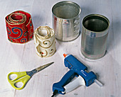 Clove bouquet in glued tin can