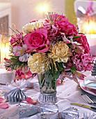 Bouquet of Rose, Dianthus, Pseudotsuga
