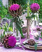 Artichoke table decoration: Cynara scolymus
