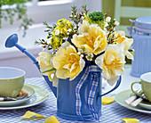 Bouquet of Tulipa (tulip), Chamelaucium (Waxflower), Ranunculus