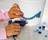 Decorate bucket in maritim motives