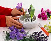 Bellflower Fleabane flower arrangement