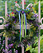 Colorful herbal wreath