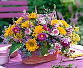 Colorful arrangement in Jardiniere