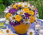 Bouquet of Tagetes, Leucanthemum, Phlox