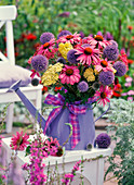 Bouquet made of Echinacea, Achillea, Echinops