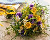 Bouquet of Anthemis, Centaurea, Erigeron