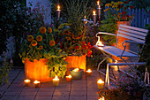 Terrace in the candlelight