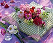 Summer flowers table decoration, bouquet from Cosmos, Antirrhinum