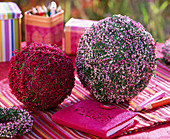 Balls wrapped in heather