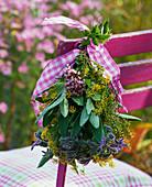 Bouquet of herbs-Origanum, Foeniculum and Salvia