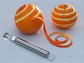 Decorate oranges with zestzer
